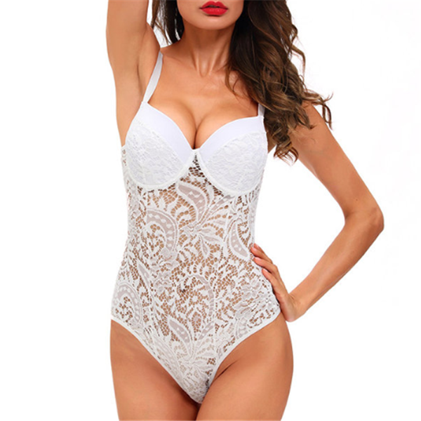 SEXY LACE HOLLOW OUT DEEP BODYSUIT