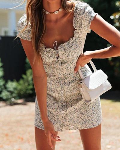French Tied Mini Dress