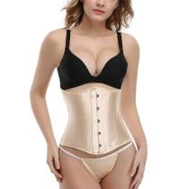 SATIN WAIST CINCHER STEEL BONED WAIST TRAINER CORSET