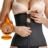 BUCKLE ZIPPER RUBBER CORSET CORRECTIVE WAIST BELT
