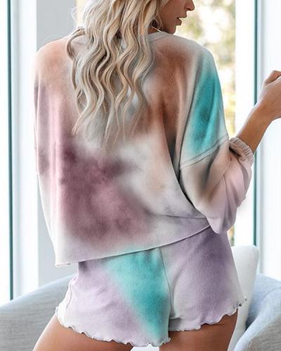 Long Sleeve Tie Dye Two Piece Set