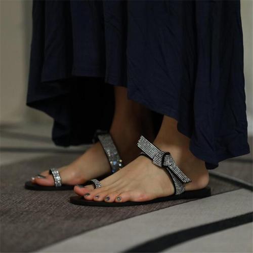 Women Embellished Strap Flat Sandals