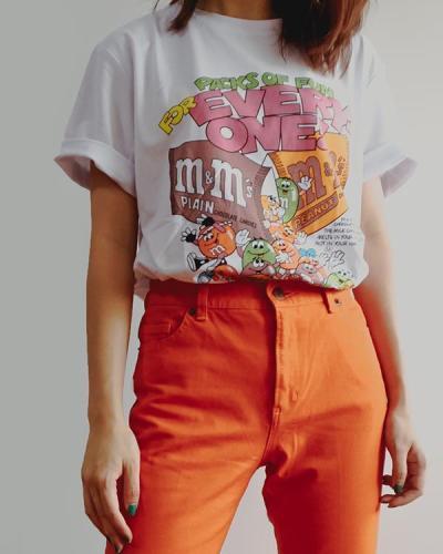 Fun Cartoon Printed Loose Casual Wild T-Shirt
