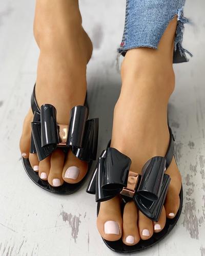 Bowknot Flat Casual Slipper Sandals