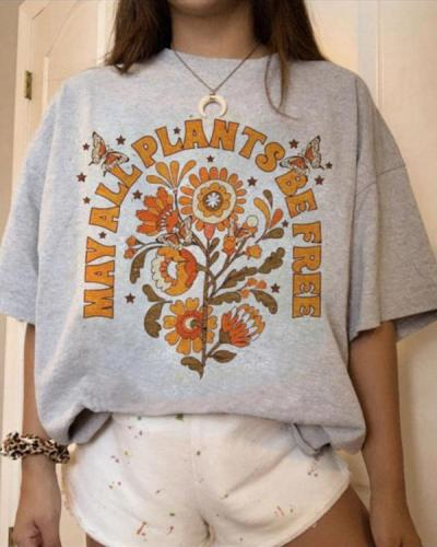 Casual Chic Printed Loose T-shirts