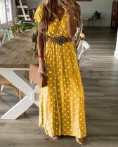 Women Sexy Long Sleeve V-Neck Irregular Plus Size Dress