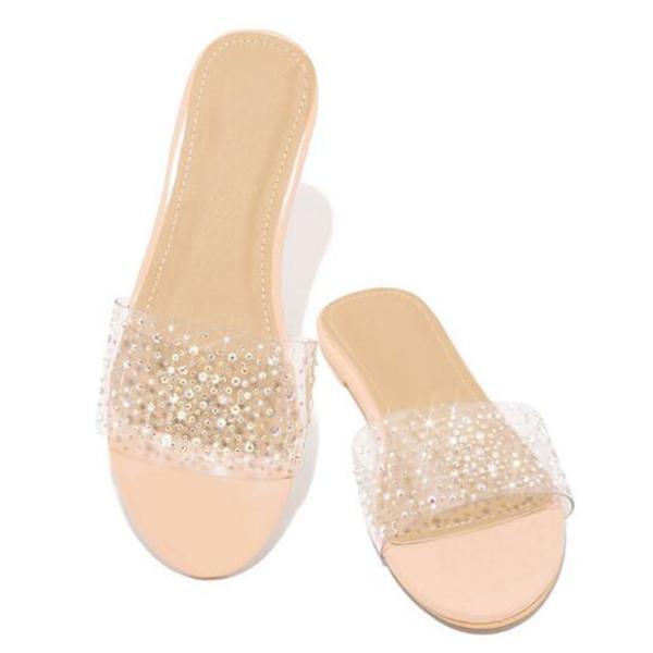 Women Summer Non-slip Rhinestone Slippers
