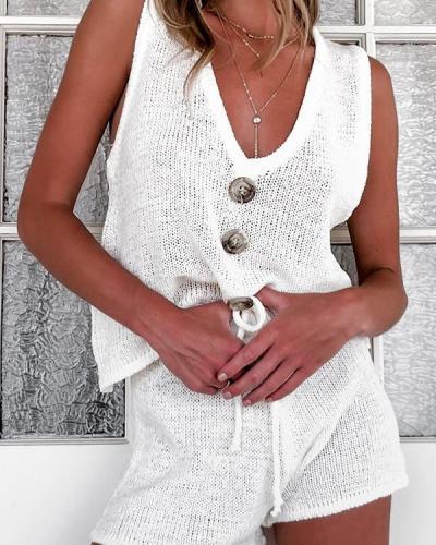 Women Fashion Leisure Vest Suit At Home