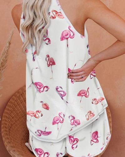 Sleeveless Halter Neck Pyjama Set Nightwear