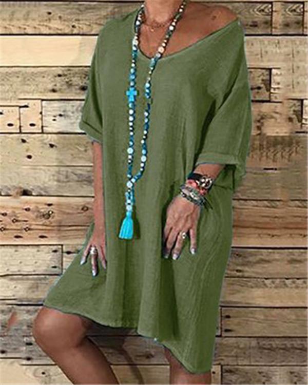 V Neck Women Daytime Dresses