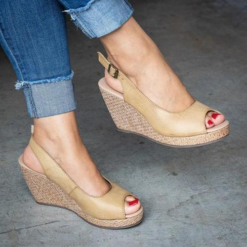 Casual Wedge Open Toe Sandals
