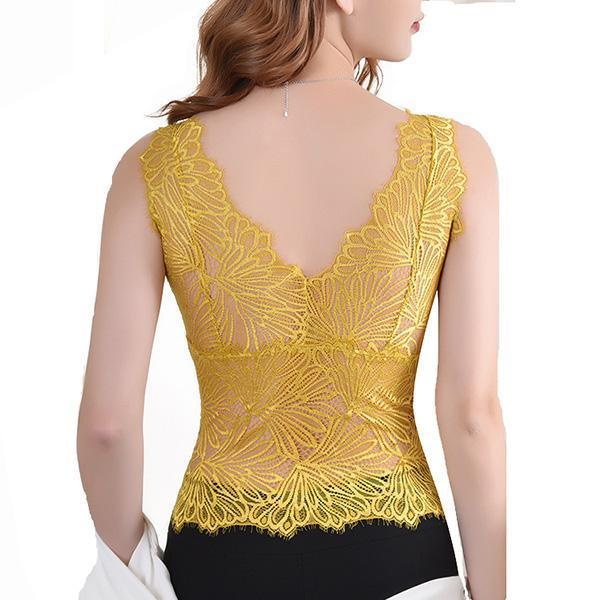 LACE WRAPPED CHEST TUBE TOP NO STEEL RING WITH CHEST PAD VEST BRA