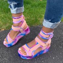 Magic Tape Platform Sandals