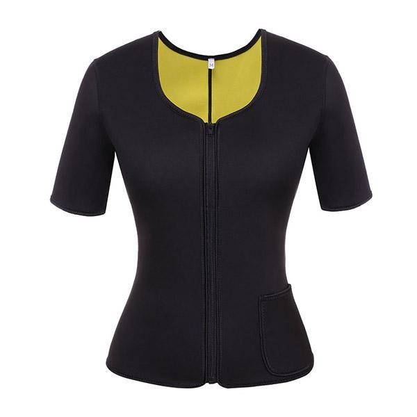 NEOPRENE BURST SWEAT SLIMMING SPORTS TOP