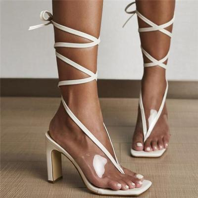 Fashion Lace Up High Heels