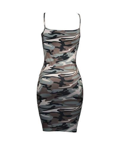 Camouflage Bodycon Midi Dress