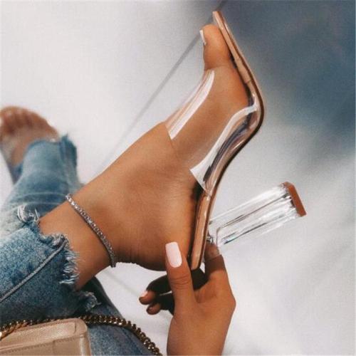 Open Toe Heel transparent High Heel Casual Sandals