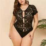 SEXY PLUS SIZE PLUNGING HAITER TEDDY