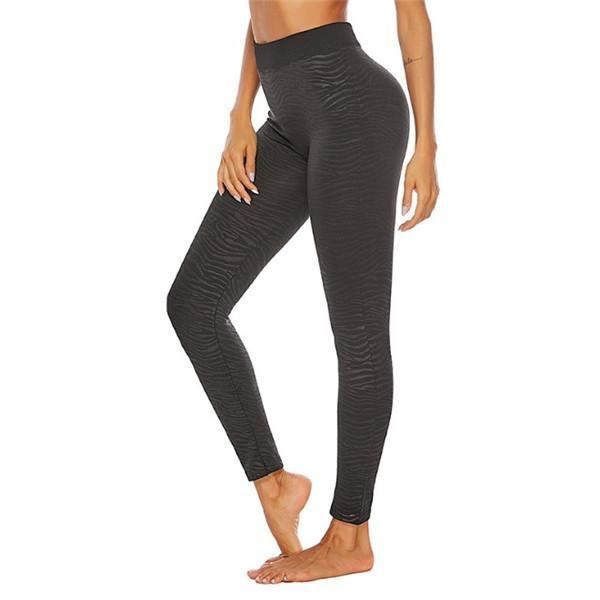 BLACK ANKLE LENGTH YOGA LEGGINGS