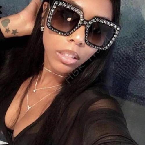 Luxury Ladies Oversized Square Sunglasses