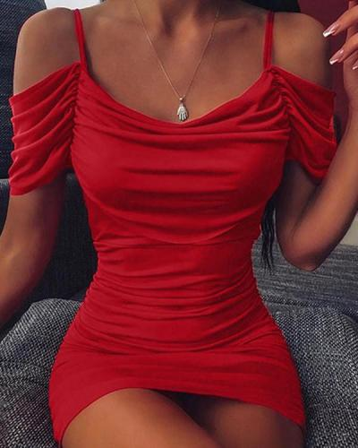 SPAGHETTI GLITTER CAMI DRESS