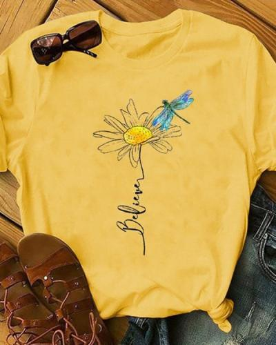 Women Casual Short Sleeve Printed Shirts & Tops