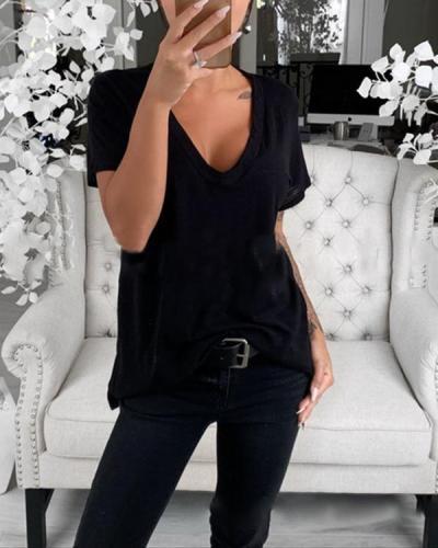 Women Solid Color Blouse & Shirt