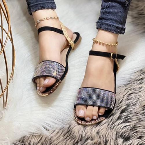 Casual Adjustable Buckle Flat Sandals