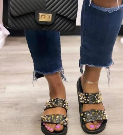Summer Rivet Slide Slippers