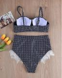 Sexy Polka Dot Lace Bikini Set
