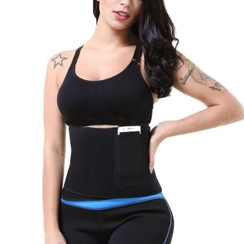 WAIST TRAINER WITH A POCKET