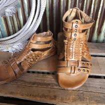 Open Toe Heel Covering Buckle Casual Plain Sandals