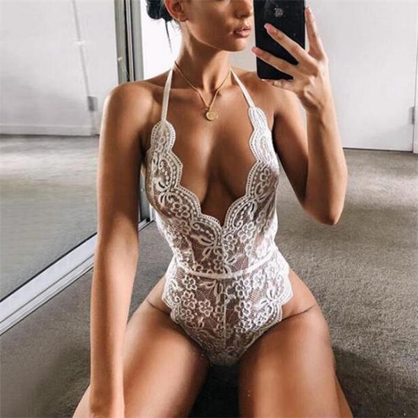 WOMEN SEXY LACE BODYSUITS