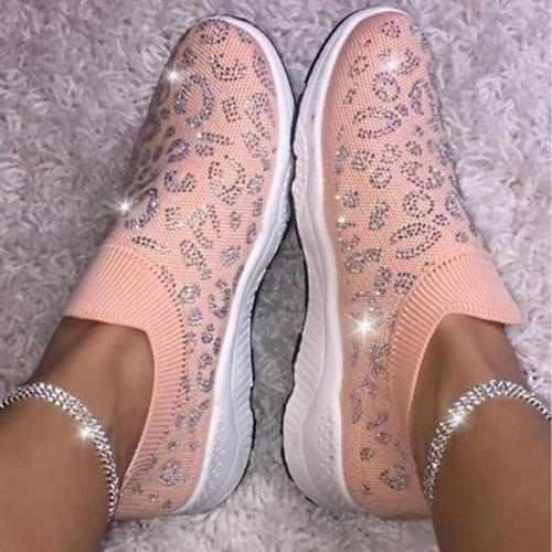 Flat Heel Daily Sparkling Glitter Sneakers