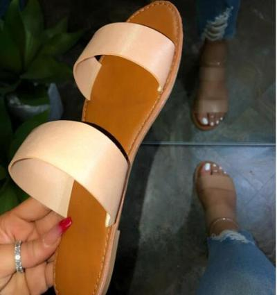 Slip-On Flip Flop Block Heel Casual Compound Slippers