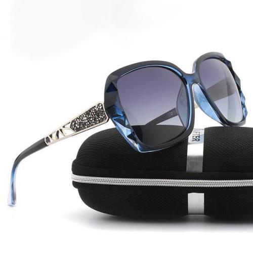 PC Frame Women Polarized Fashion Vintage Sunglasses With Box