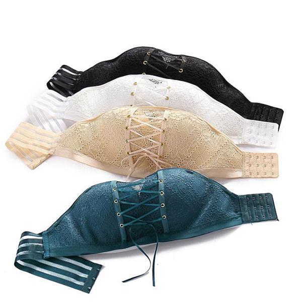 STRAPLESS BRA INVISIBLE SEXY LACE SEAMLESS ADJUSTABLE UNDERWEAR