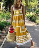 Bohemian Sling Printed Sleeveless Maxi Dresses