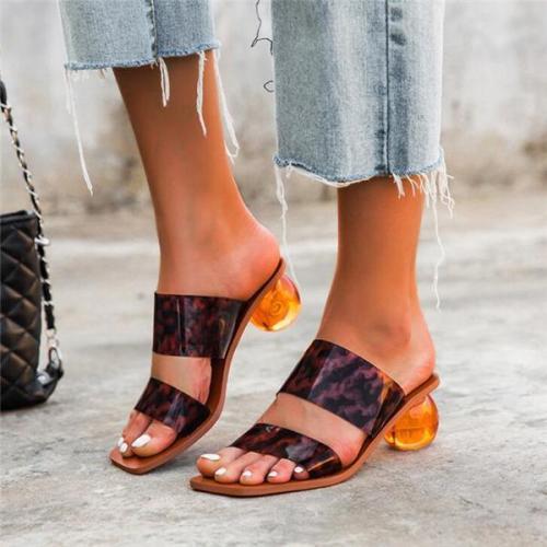 Fashion Slip On round sandals