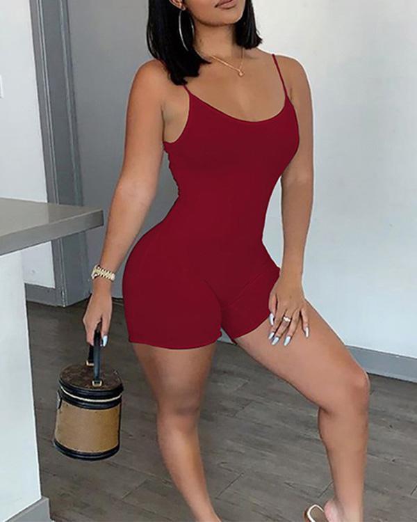 Skinny Sleeveless Women Rompers
