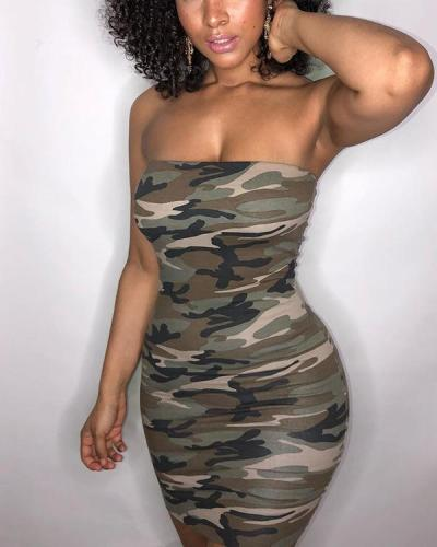 Sexy Camouflage Bodycon Dress