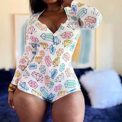 2020 Women Trendy Rompers  Sleepwear Leopard Print Romper