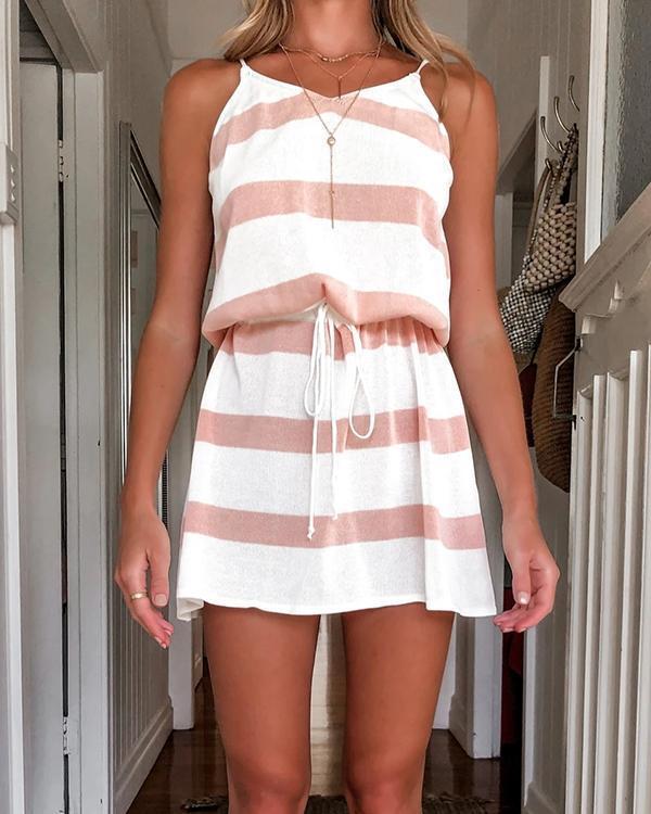 Women Fashion Leisure Mini Dress At Home