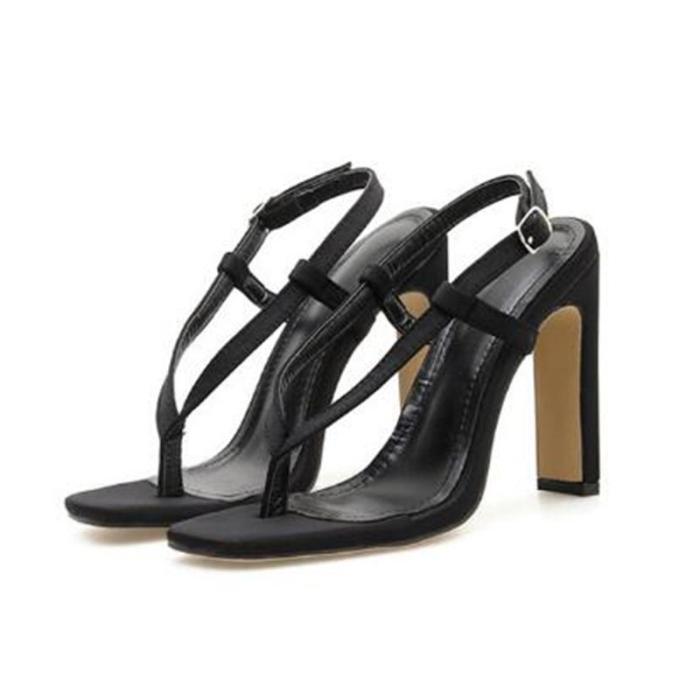 Women Cross Tape Thin Heel Sandals