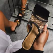 Fashion Rhinestone High Heel sandals Slippers
