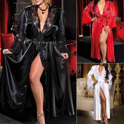 ICE SILK LONG FRESS BATHROBE SLEEPWEAR