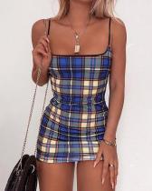 Strap Check Printed Skinny Dress