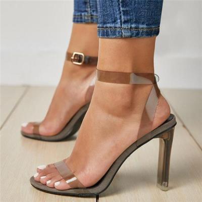 Fashion Transparent pvc Elegant High Heels