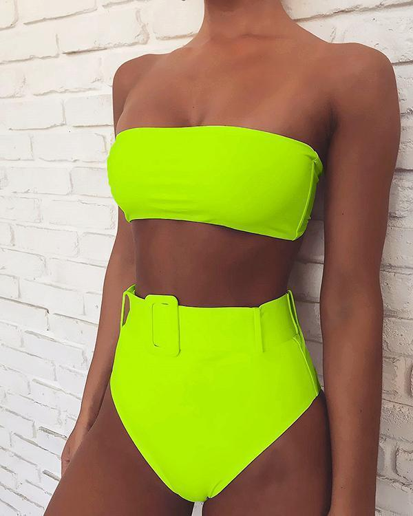 Women Sexy Off-shoulder Bikini