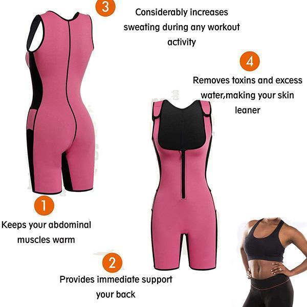 WOMEN LOSE WEIGHT SPORT SWEATING BODYSUIT